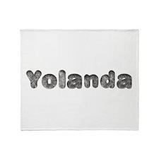 Yolanda Wolf Throw Blanket