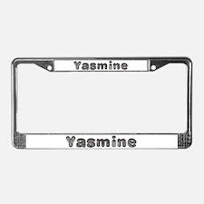 Yasmine Wolf License Plate Frame