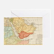 Vintage Map of Saudi Arabia (1780) Greeting Card