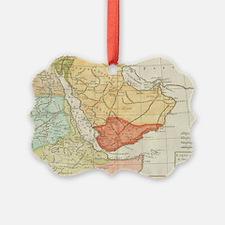 Vintage Map of Saudi Arabia (1780 Ornament