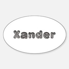 Xander Wolf Oval Decal