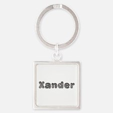 Xander Wolf Square Keychain