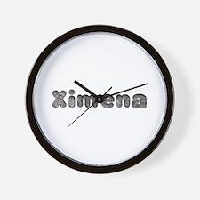 Ximena Wolf Wall Clock