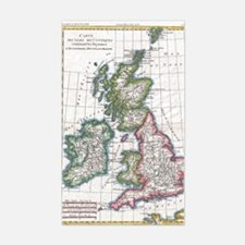 Vintage Map of The British Isl Decal