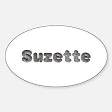 Suzette Wolf Oval Decal