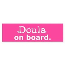 Doula on Board Bumper Bumper Sticker