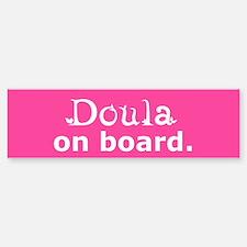 Doula on Board Bumper Car Car Sticker