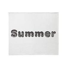 Summer Wolf Throw Blanket