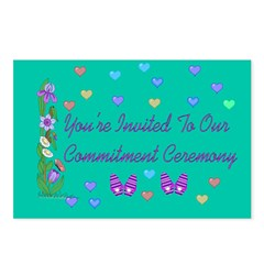 Commitment Ceremony Invitation Postcards (Package