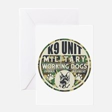K9 Unit Military Working Dogs Greeting Card