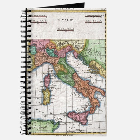 Vintage Map of Italy (1780) Journal