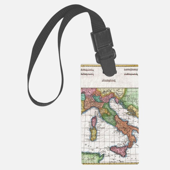 Vintage Map of Italy (1780) Luggage Tag