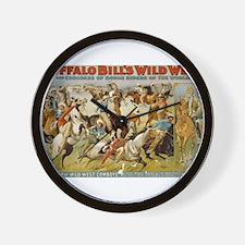 buffalo bill cody Wall Clock