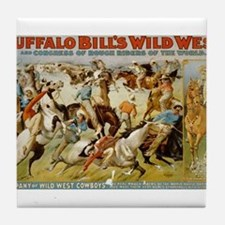 buffalo bill cody Tile Coaster