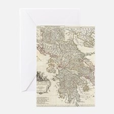Vintage Map of Greece (1794) Greeting Card