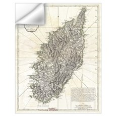 Vintage Map of Corsica (1794) Wall Decal