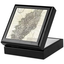 Vintage Map of Corsica (1794) Keepsake Box