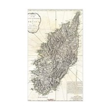Vintage Map of Corsica (1794) Decal