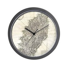 Vintage Map of Corsica (1794) Wall Clock