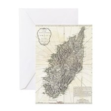 Vintage Map of Corsica (1794) Greeting Card