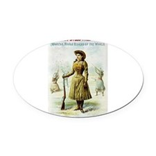 annie oakley Oval Car Magnet