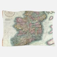 Vintage Map of Ireland (1799) Pillow Case