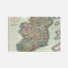 Vintage Map of Ireland (1799) Rectangle Magnet