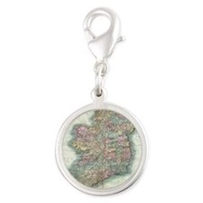 Vintage Map of Ireland (1799) Silver Round Charm