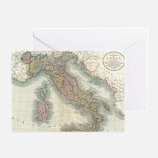 Vintage Map of Italy (1799) Greeting Card