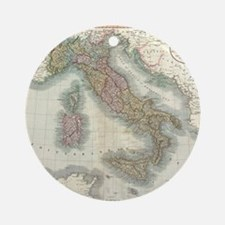 Vintage Map of Italy (1799) Round Ornament