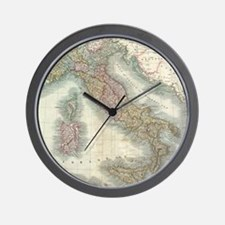 Vintage Map of Italy (1799) Wall Clock