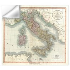 Vintage Map of Italy (1799) Wall Decal
