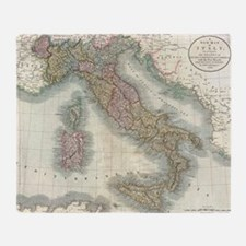 Vintage Map of Italy (1799) Throw Blanket