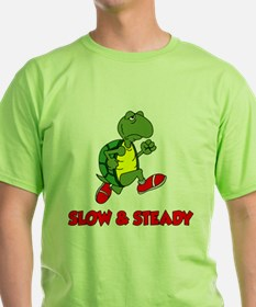 Slow and Steady Turtle Running T-Shirt