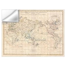 Vintage Map of The World (1799) Wall Decal