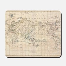 Vintage Map of The World (1799) Mousepad