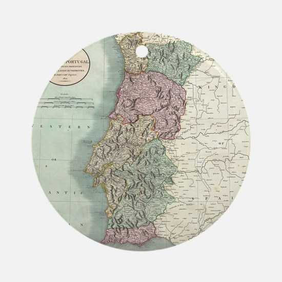Vintage Map of Portugal (1801) Round Ornament