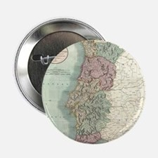 """Vintage Map of Portugal (1801) 2.25"""" Button"""