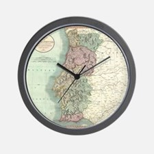 Vintage Map of Portugal (1801) Wall Clock