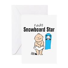 Future Snowboarder Boy Baby Card