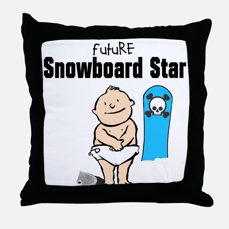 Future Snowboarder Boy Nursery Pillow