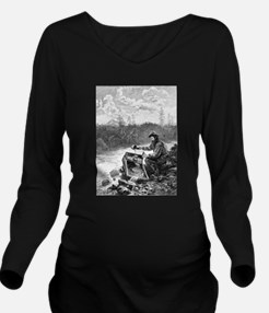 Funny Old west Long Sleeve Maternity T-Shirt
