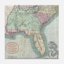 Vintage Map of The Southeastern U.S.  Tile Coaster