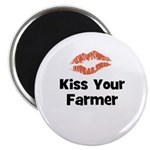 Kiss Your Farmer Magnet