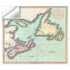 Vintage Map of Nova Scotia and Newfoundland (1807) Wall Decal