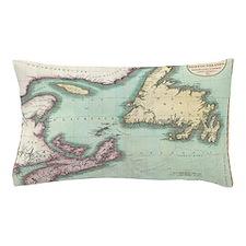 Vintage Map of Nova Scotia and Newfoun Pillow Case