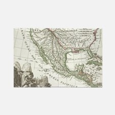 Vintage Map of Texas and Mexico T Rectangle Magnet