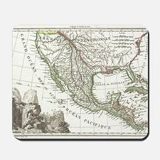 Vintage Map of Texas and Mexico Territor Mousepad