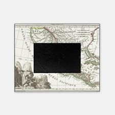 Vintage Map of Texas and Mexico Terr Picture Frame
