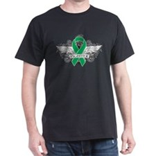 Liver Cancer Fighter Wings T-Shirt
